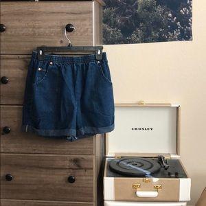 High waisted denim dark navy jeans